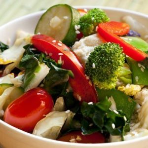 Contains L-glutathione: fresh vegetables (broccoli, zucchini, spinach, asparagus, tomatoes), fruits and meat